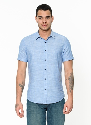 Lee Cooper Kısa Kollu Gömlek Mavi